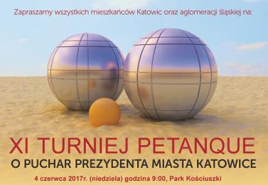 XI Turniej Petanque o Puchar Prezydenta Miasta Katowice