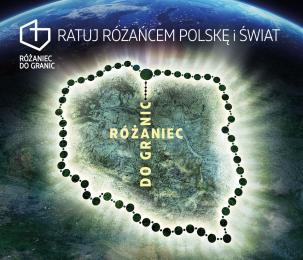 Różaniec Do Granic na lotnisku w Pyrzowicach