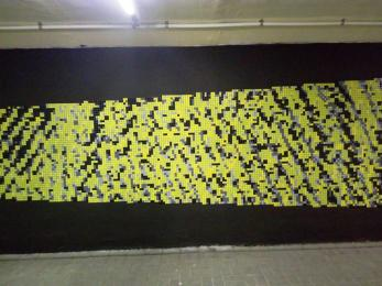 Nowy mural i mozaika... w tunelu