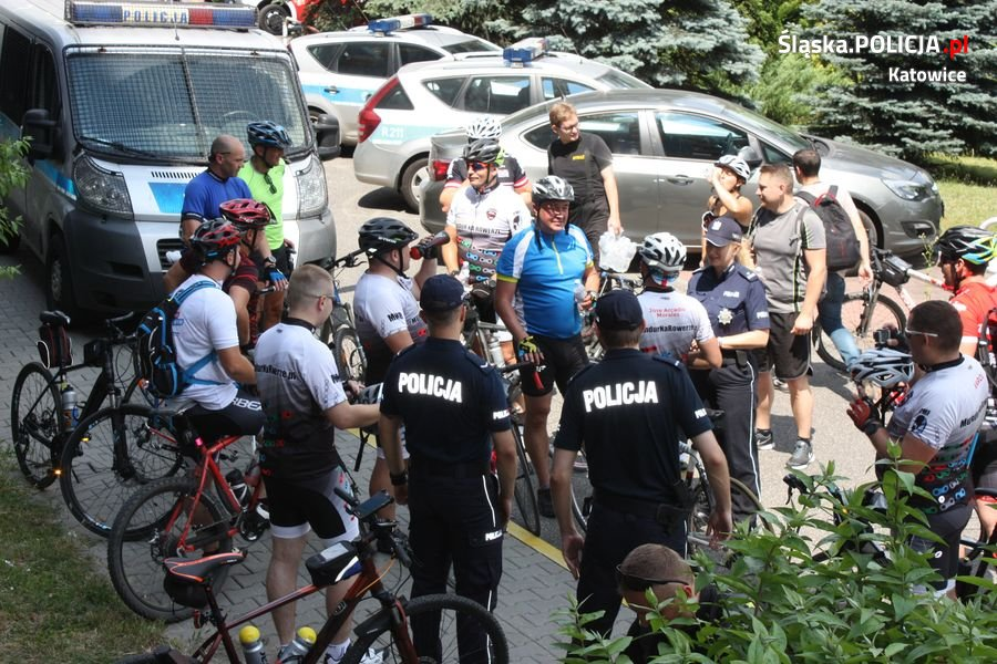 Rowerowa sztafeta dotarła do Katowic