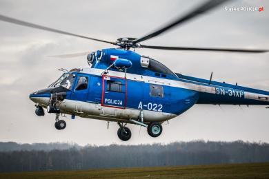 Śmigłowiec Lotnictwa Policji w służbie na COP24