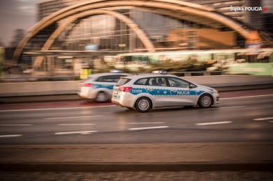 Policjanci ruchu drogowego podczas COP24
