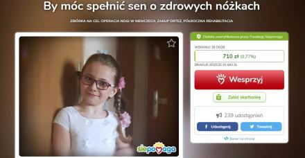 Pomoc dla chorej Amelki. Sprawdź co możesz zrobić, by wesprzeć dzielną dziewczynkę