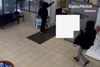Katowice: Napad na bank. Publikujemy nagranie z monitoringu. Rozpoznajesz sprawców?