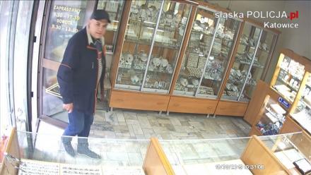Policjanci z Katowic poszukują sprawcy kradzieży biżuterii
