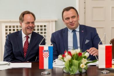 Spotkanie Jakuba Chełstowskiego z ambasadorem Chorwacji