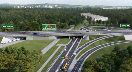 Katowice: Termin wyłączenia zjazdu z A4 na DK86 przesunięty