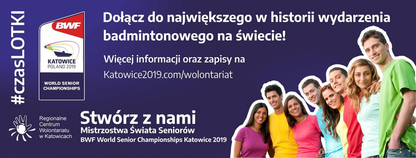 Wolontariat na World Senior Badminton Championships