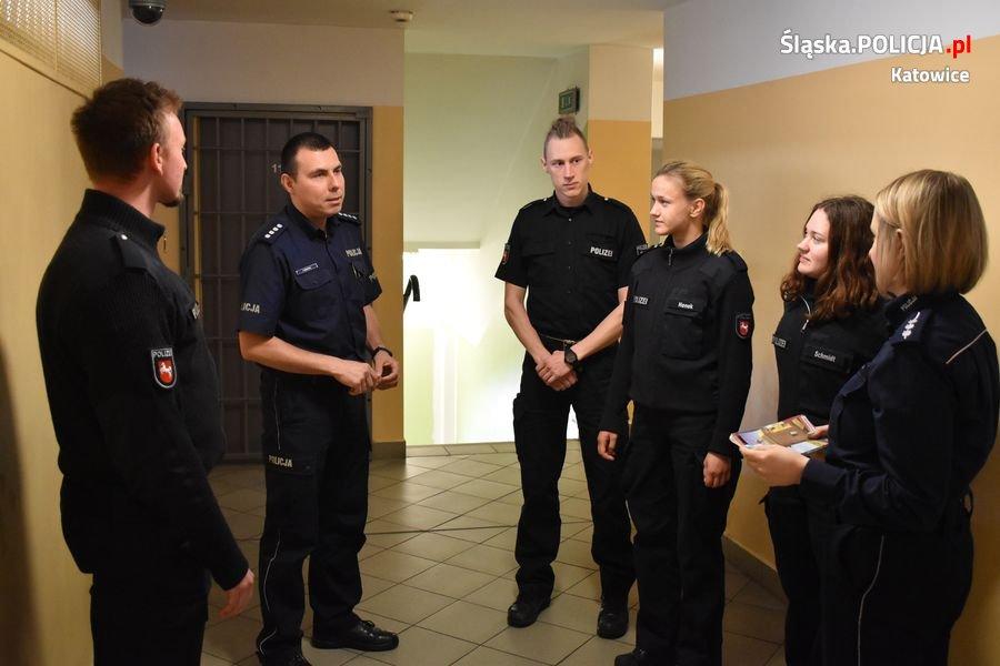 Studenci z niemieckiej Akademii Policyjnej z wizytą w katowickiej komendzie