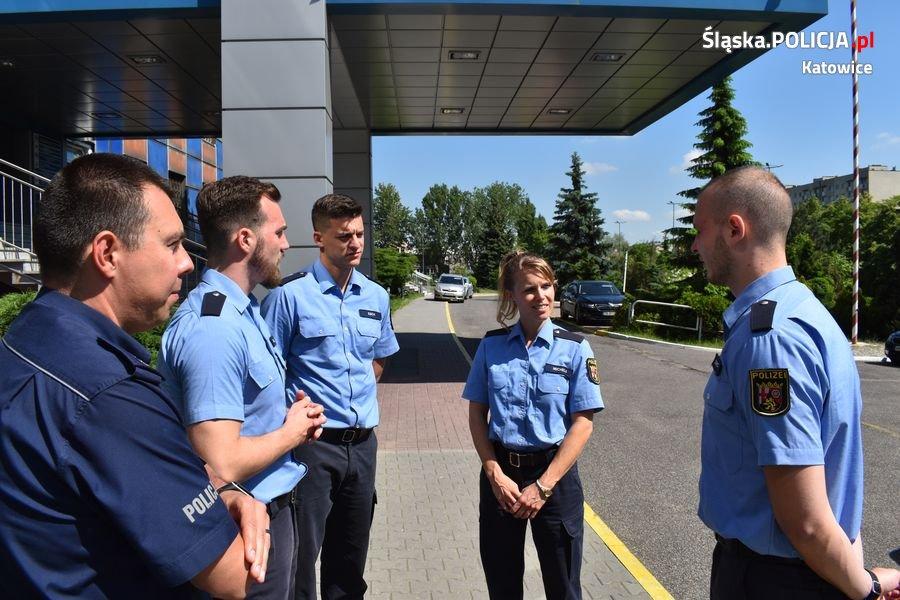 Policjanci z Niemiec odwiedzili katowicką komendę