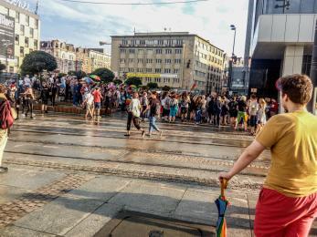 Katowice solidarne z Białymstokiem [ZDJĘCIA]
