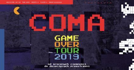 """GAME OVER"" - pożegnalna trasa koncertowa zespołu COMA"
