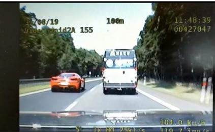 Katowicka grupa SPEED zatrzymała kierowcę ferrari, który pędził z prędkością 177 km/h!
