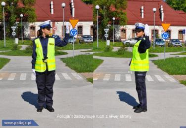 Wiesz jak zachować się, gdy ruchem kieruje policjant? [FILM]