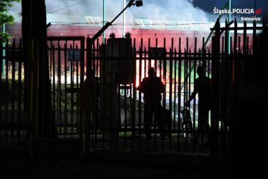 Katowice: Trzy osoby zatrzymane podczas meczu piłki nożnej