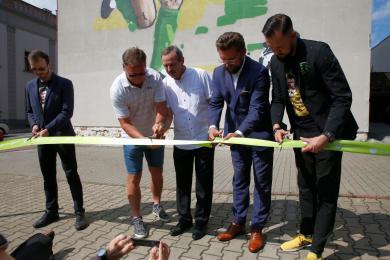 Jan Furtok, legenda Gieksy, ma swój mural w Katowicach