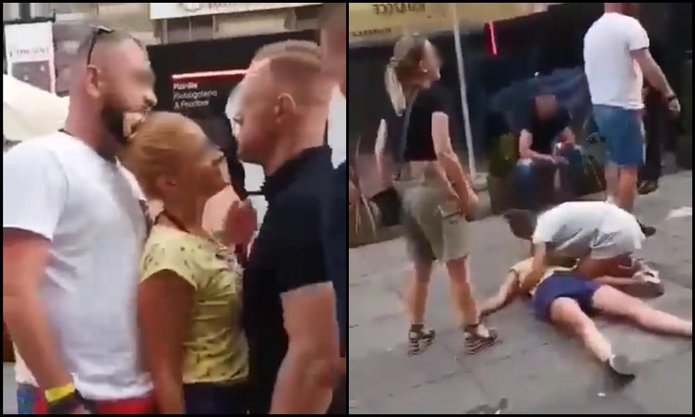 Brutalnie pobicie kobiety na Mariackiej w Katowicach [WIDEO]. Policja szuka sprawcy!