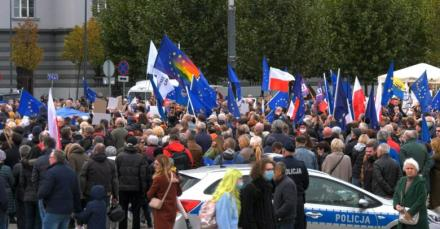"""""""My ZostajeMY w UE! Jesteśmy z Europą"""". Manifestacja w Katowicach [WIDEO]"""