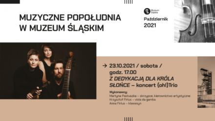 Muzyczne popołudnia w Muzeum Śląskim